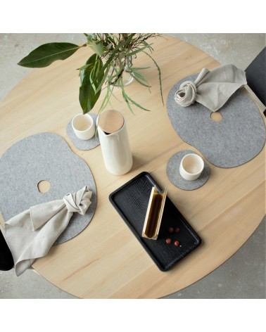 Table setting with felt placemats