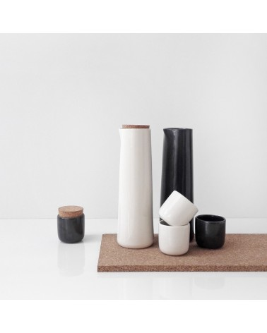 ceramic carafe with small cups