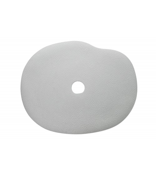 Leather placemat light grey