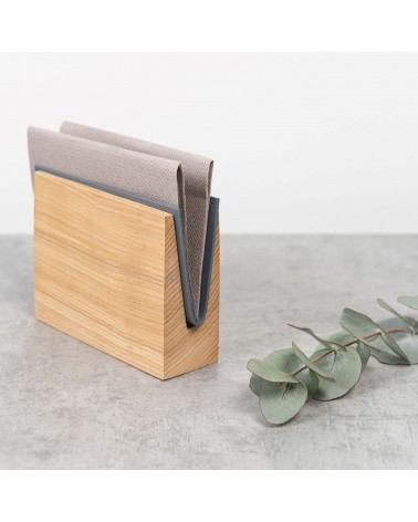 Wooden napkin holder