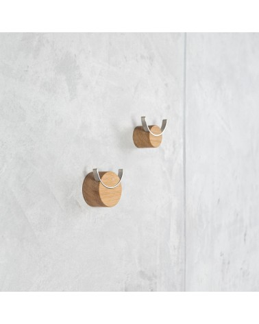 steel and wooden hook