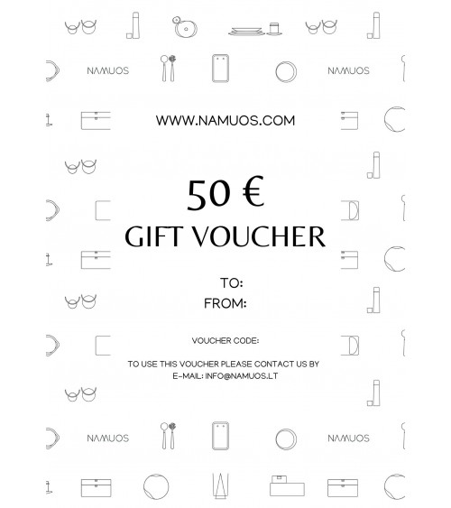 Gift voucher for home accesories