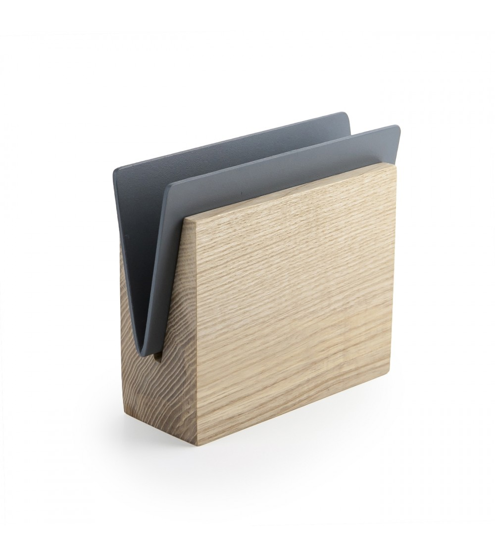 Grey napkin holder