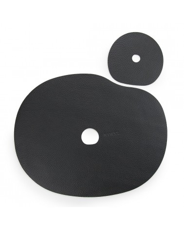 Black placemat and coaster
